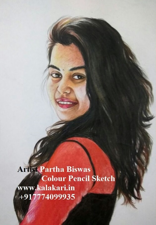 custom photo to pencil color sketch