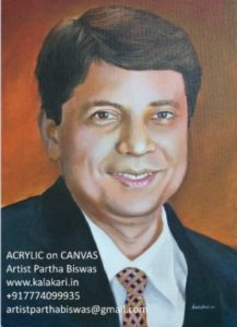 Dr Parag Sancheti handmade canvas painting