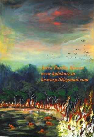 Fire painting Art_Abstract painting