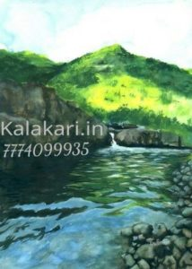 Watercolor painting of a beautiful scenery.