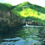 water lake in maharashtra india painting