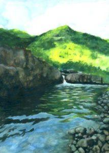water lake in maharashtra india painting