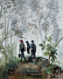 friends matheran tour painting