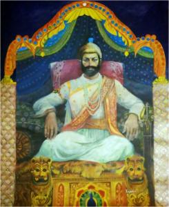 Handmade Shivaji maharaj Painting