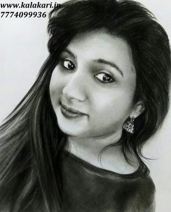 photo to charcoal sketch|gift custom handmade portrait