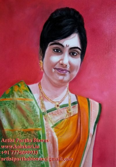 oil portrait painting from photograph