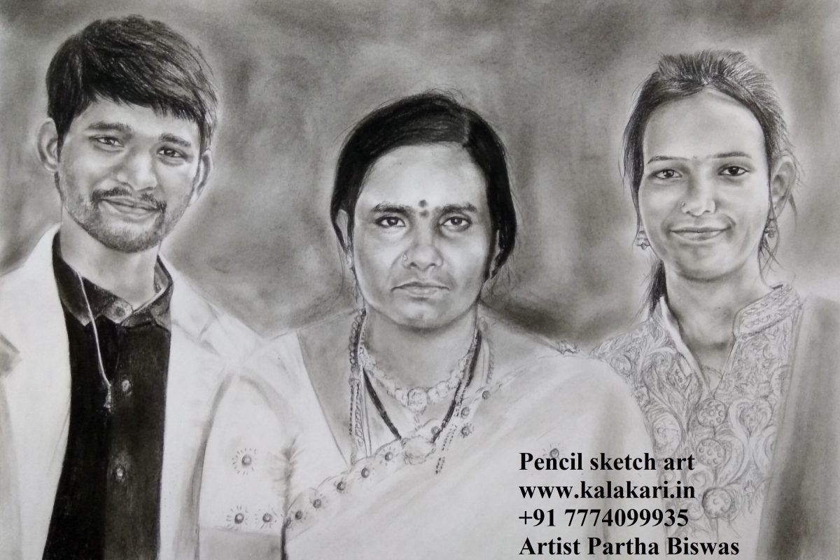 Pencil sketch gift to mother