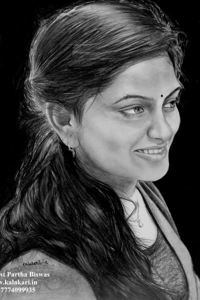 Pencil painting by portrait sketch artist pune